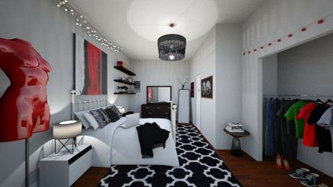 VIEW 3 of college apartment - Classic - Bedroom - by annator