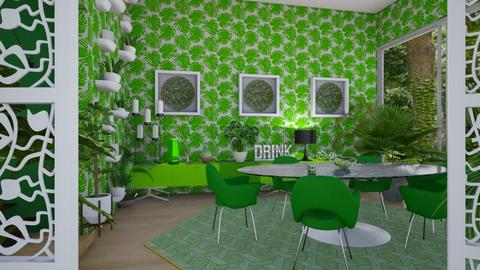 palm dining room - Modern - Dining room - by kitty