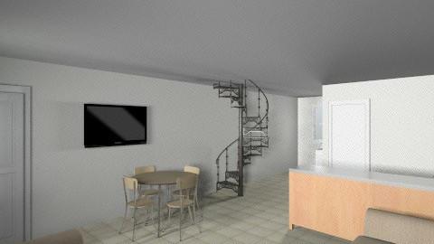 Lower Cabin - Living room - by lbarriosch