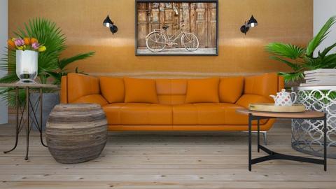 Orange Sofa - by ZuzanaDesign