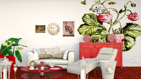 Strawberries and Cream  - Modern - Living room - by Cheescake