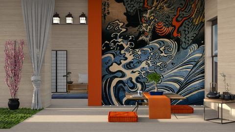 Japanese Centered - Global - Living room - by Gurns