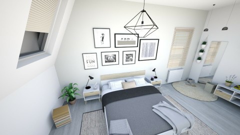 scandinavian bedroom - Bedroom - by naat29