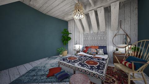 boho bedroom - Bedroom - by percy pig