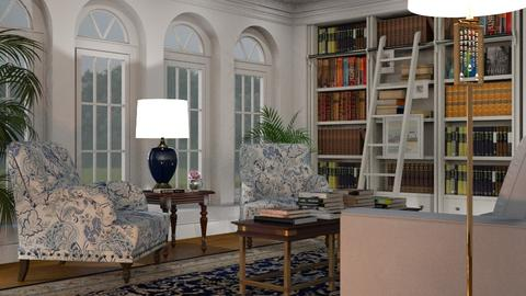 The Library - Living room - by GraceKathryn
