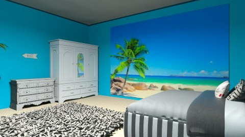 Beach Room - Vintage - Bedroom - by Python House