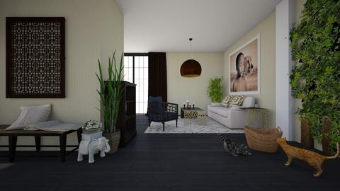 African elements - Living room - by Paper Flower