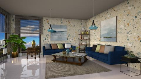 Barton in navy - Modern - Living room - by ZsuzsannaCs
