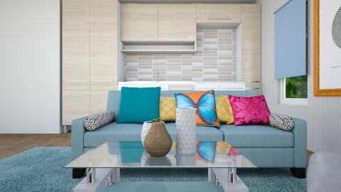 Sofa near kitchenunit - Modern - Living room - by TARA T
