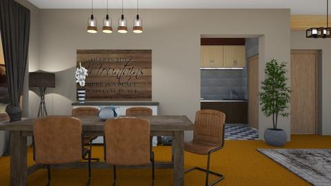 Orange Carpet - Dining room - by KimAlys