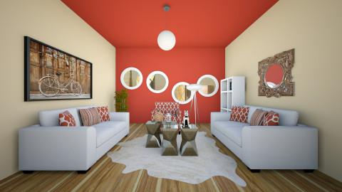 red - Vintage - Living room - by blingirl