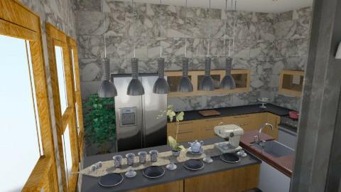 grey shades of kitchen 3 - Minimal - Kitchen - by herjantofarhan