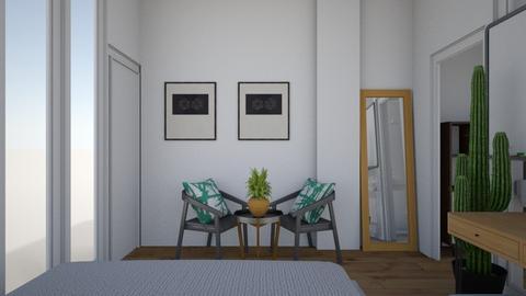 New Room - Retro - Bedroom - by ghegygeyfgeyr