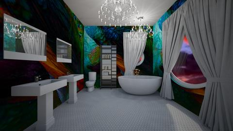 Peacock Bathroom - by Cool Coder Girl