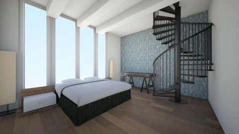 monotone penthouse room - Bedroom - by Cora_da_B0ss