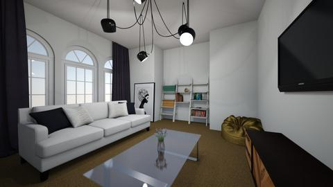 modern living room - Masculine - Living room - by absarecool