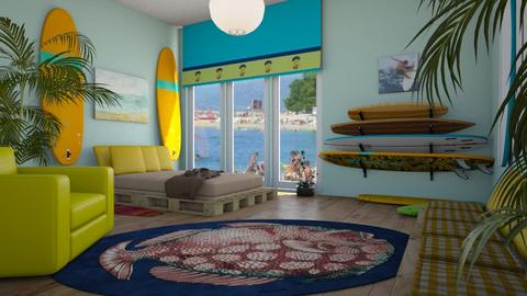 surf culture bedroom - by ilcsi1860