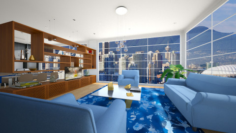 Vancouver Penthouse - Eclectic - Living room - by Theadora