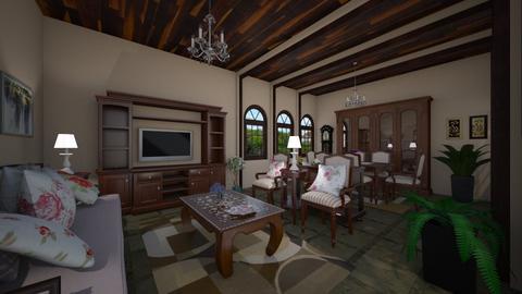 Casa com Arcadas Living - Classic - Living room - by Mariesse Paim