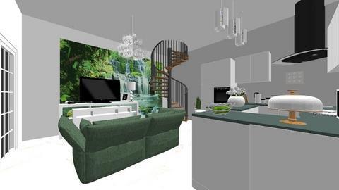 PROJEKT DOMKU - Living room - by DERRYS
