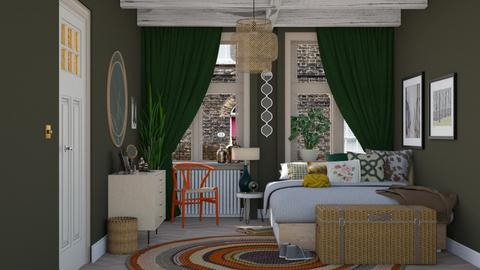The green bedroom - Eclectic - Bedroom - by HenkRetro1960