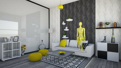 Yellow - Retro - Living room - by kashanka