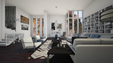 Chalky White1_Dark Wood - Modern - Living room - by janip