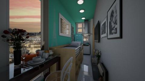 Paris Tiny Room  2 - Minimal - by ayu DR