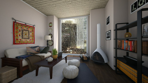 townhouse loft - Living room - by carli1504