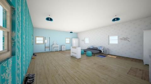 blue room - Bedroom - by bientje11