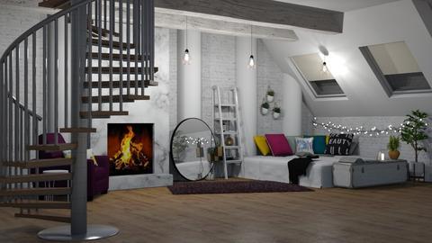 BrickApartment - Minimal - Bedroom - by LeilaniD04