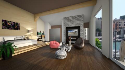 large bedroom  - Minimal - Bedroom - by Inna_Inas