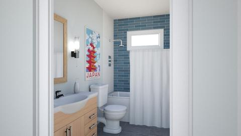 Cobos Gst bth blue tile2 - Bathroom - by IdaJo