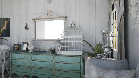French Country vignette - Living room - by Keara Ramsey