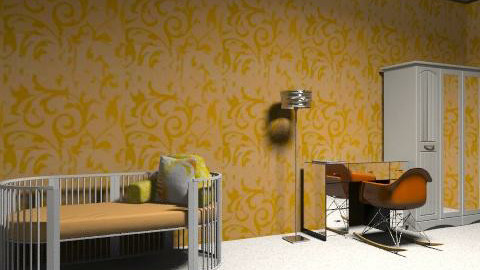 Orange and White Kids Room - Modern - Kids room - by SydneyJay