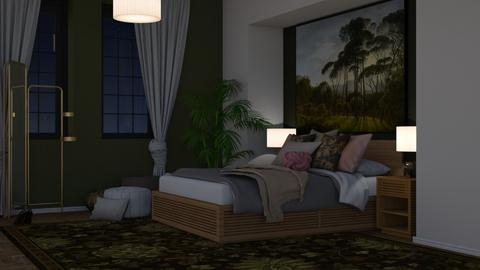 Green bedroom - Modern - Bedroom - by HenkRetro1960