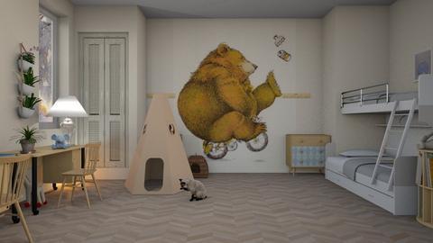 Happy_Bear - Kids room - by ZuzanaDesign