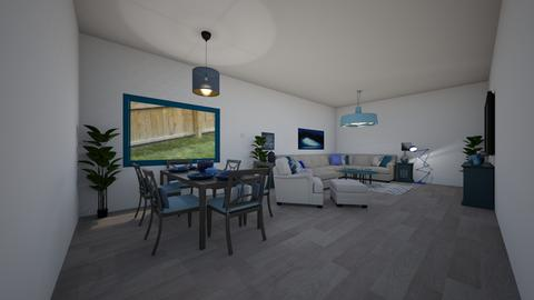 blue and white wood livin - Modern - Living room - by jade1111
