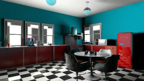 Retro KITCHEN - Retro - Kitchen - by Jacquie Ru