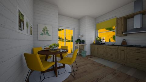 yellow - Kitchen - by nevenadesko