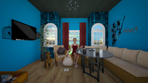 me and my dog - Vintage - Living room - by stauroula