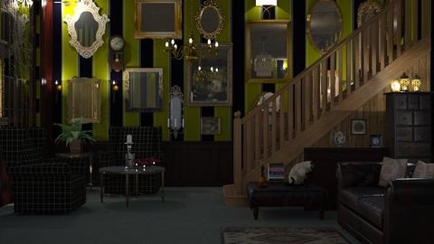 M_Mirrored house - Vintage - Living room - by milyca8