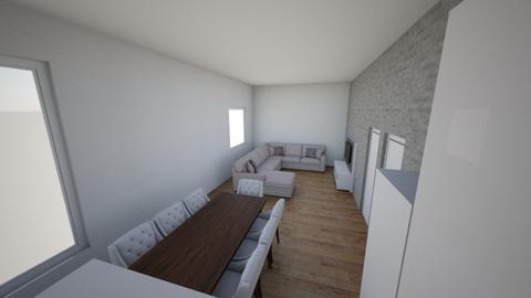 Salonz kanapa przy oknie - Living room - by JacekWojdyr