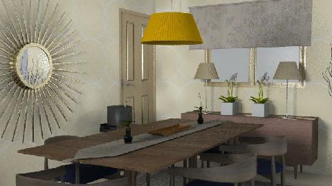 RR18. Soft Beige - Dining Room - by KarenWilkinson