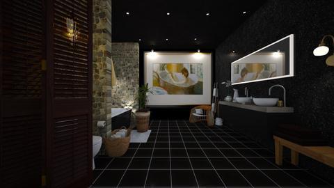 Dark bathroom - Bathroom - by Wildflowers