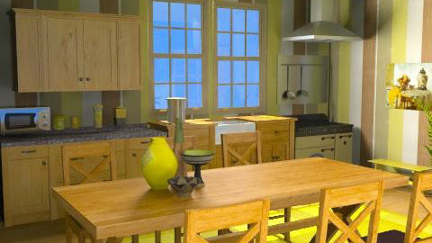 cucina - Rustic - Kitchen - by catcarla