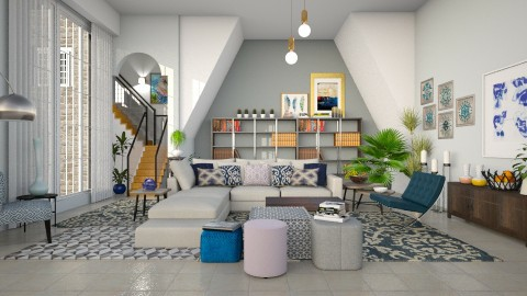 Blue Hues - Modern - Living room - by janip