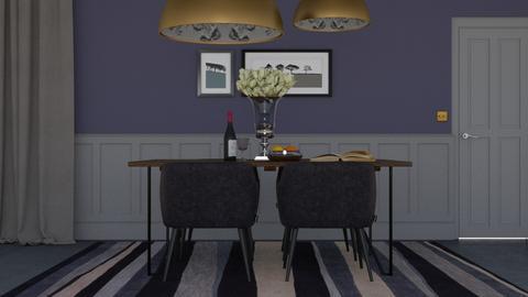 Purple dining - Minimal - Dining room - by HenkRetro1960