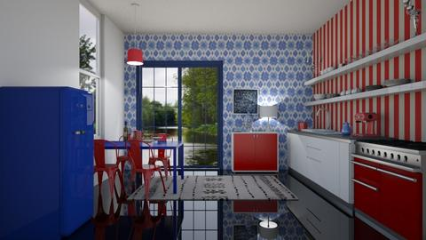 RED AND BLUE - Dining room - by NadineHerwig
