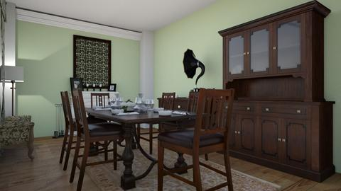 American Colonial - Vintage - Dining room - by AndreeaMadalina